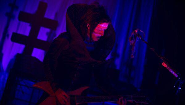 Бас-гитарист группы Marilyn Manson Джорди Уайт. Архивное фото
