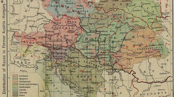 Границы австро-венгерской империи в 1911 и после Первой мировой войны