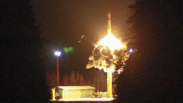 Запуск межконтинентальной баллистической ракеты с космодрома Плесецк. 26 октября 2017