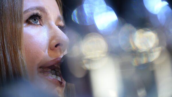 Телеведущая Ксения Собчак на пресс-конференции. Архивное фото