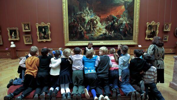 У картины Карла Брюллова Гибель Помпеи в Русском музее