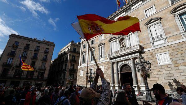 Ситуация у здания парламента Каталонии в Барселоне