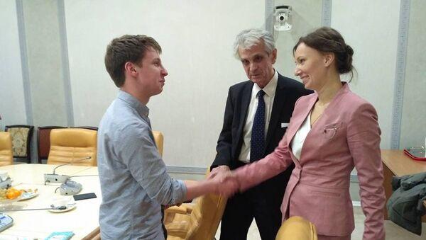 Алекс Гилберт и Анна Кузнецова в Москве.