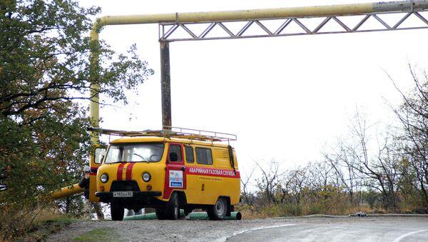 Аварийная служба на месте повреждения газопровода возле села Виноградное под Алуштой