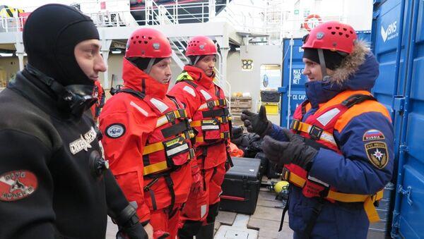 Поисково-спасательные работы у архипелага Шпицберген. 1 ноября 2017