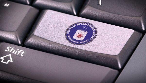 Логотип ЦРУ на клавиатуре. Архивное фото