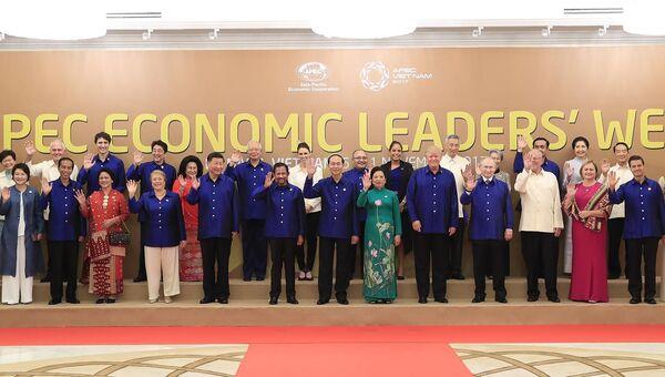 Церемонию фотографирования участников саммита АТЭС, Дананг. 10 ноября 2017