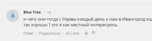Комментарий жителя Ивангорода на сайте RT