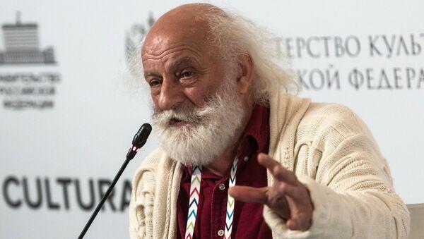 Художественный руководитель Цирка на Фонтанке Вячеслав Полунин на Санкт-Петербургском международном культурном форуме