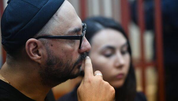 Режиссер Кирилл Серебренников, обвиняемый в организации крупного мошенничества, в Басманном суде Москвы. 17 октября 2017