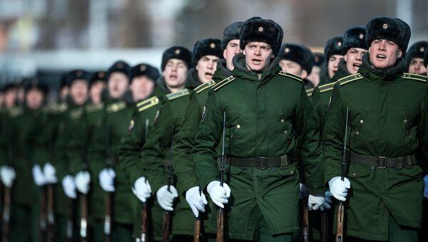 Военнослужащие армии РФ. Архивное фото