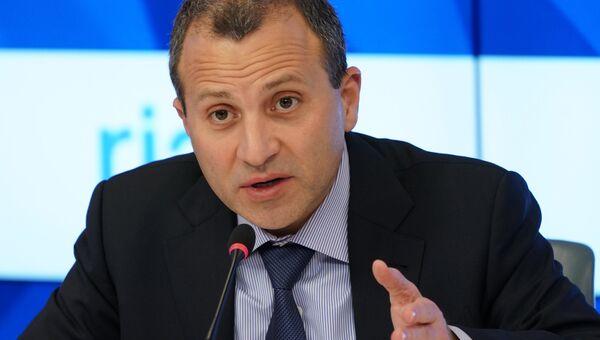 Глава МИД Ливана Джубран Басиль. Архивное фото