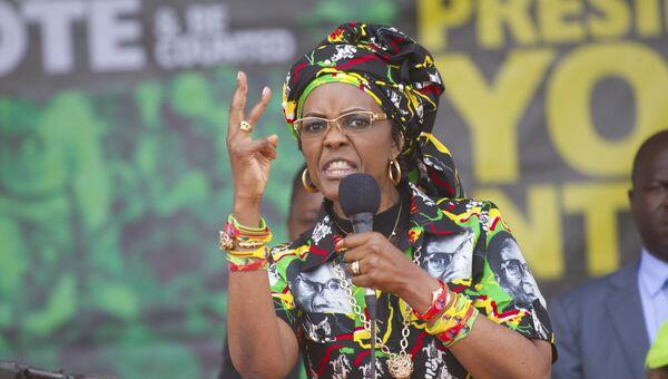 Жена экс-президента Зимбабве Грейс Мугабе. Архивное фото