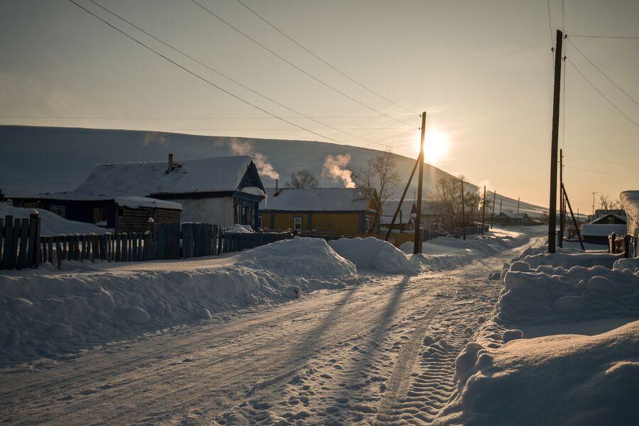 Закат в селе Татарский Саракташ Оренбургской области