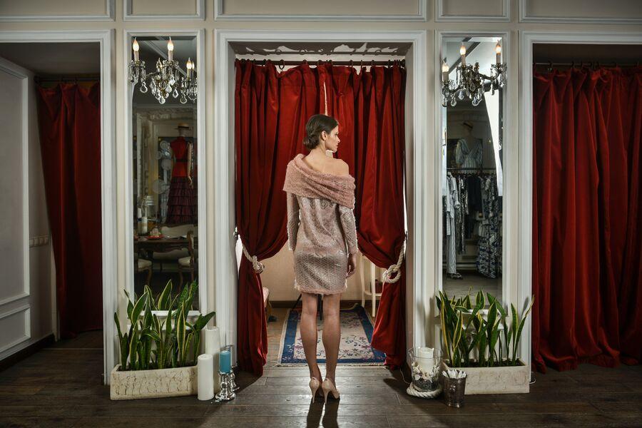 Коллекция из оренбургского платка осень-зима 2013/2014 A LA RUSSE Anastasia Romantsova