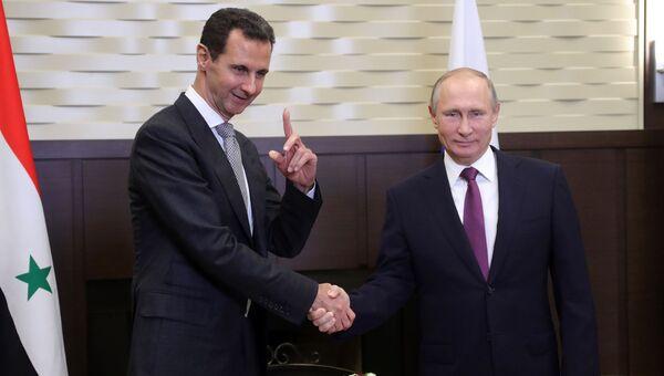 Владимир Путин и президент Сирии Башар Асад. Архивное фото