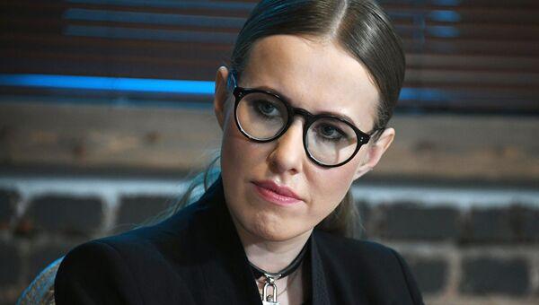 Телеведущая Ксения Собчак во время экспертной дискуссии в Москве. Архивное фото