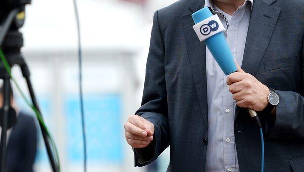 Журналист телерадиокомпании Deutsche Welle. Архивное фото