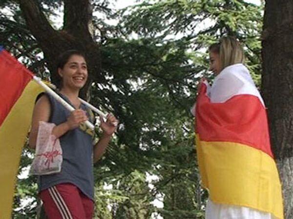 Праздник со слезами на глазах. Цхинвали празднует независимость Осетии