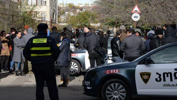 Сотрудники полиции во время контртеррористической операции в Тбилиси. 22 ноября 2017