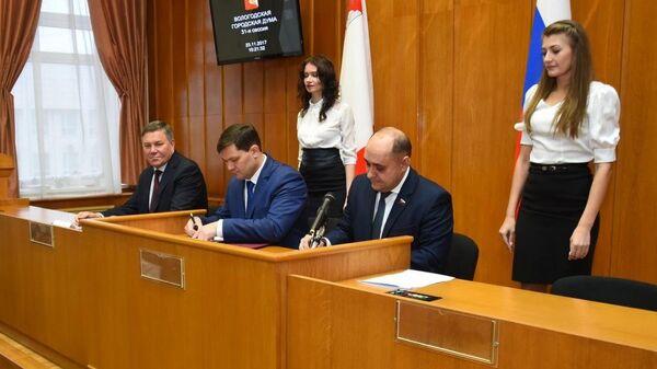Вступление Сергея Воропанова в должность мэра Вологды. 23 ноября 2017