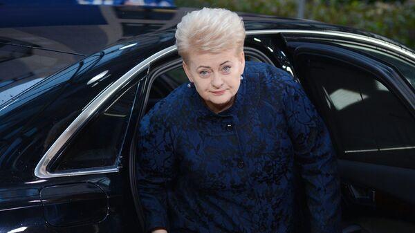 Президент Литвы Даля Грибаускайте перед началом заседания Совета Европы в Брюсселе