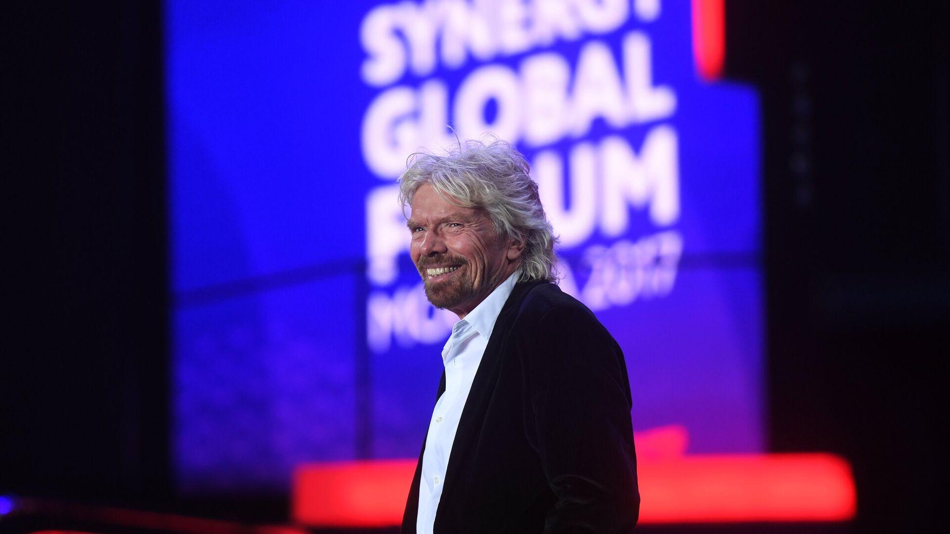 Основатель корпорации Virgin Group Сэр Ричард Брэнсон во время выступления на форуме Synergy Global Forum в Олимпийском. 27 ноября 2017 - РИА Новости, 1920, 11.07.2021