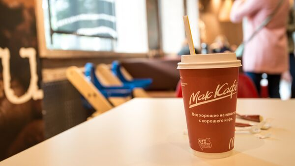 Стакан кофе в McDonald's
