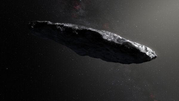 Художник изобразил первый межзвездный астероид Оумуамуа. Архивное фото