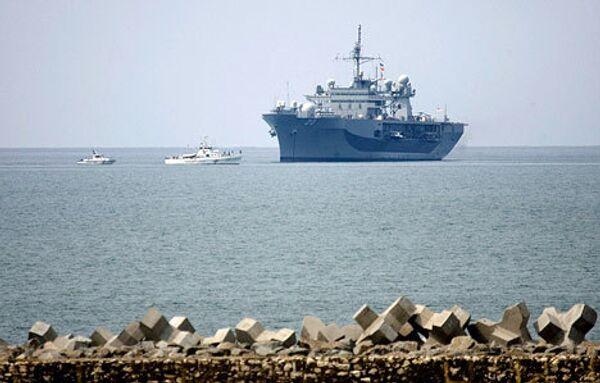 Штабной корабль шестого флота ВМС США Маунт Уитни (Mount Whitney)
