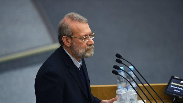 Председатель Собрания исламского совета Исламской Республики Иран Али Лариджани