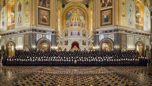 Участники Архиерейского собора Русской православной церкви 2017 года