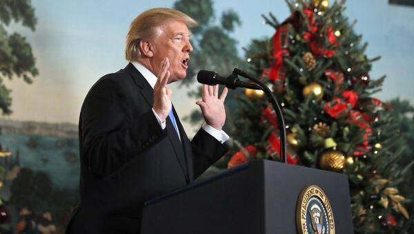 Президент США Дональд Трамп признал Иерусалим столицей Израиля. 6 декабря 2017