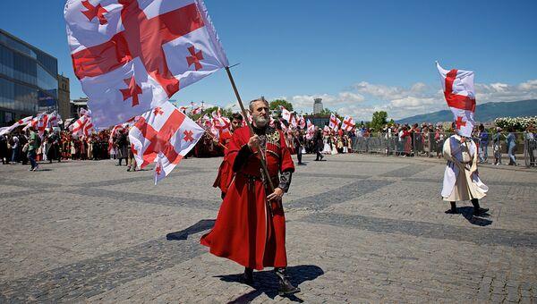 Праздничное шествие в Тбилиси