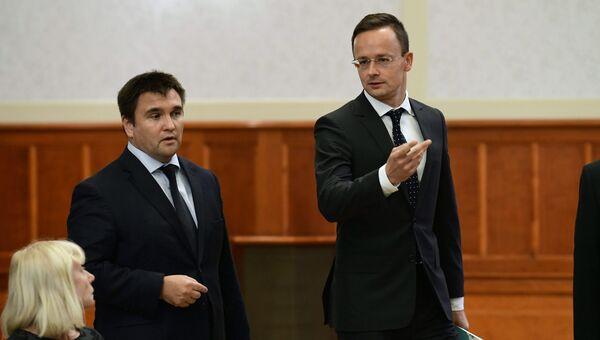МИД Украины Павел Климкин с венгерским коллегой Петером Сиярто