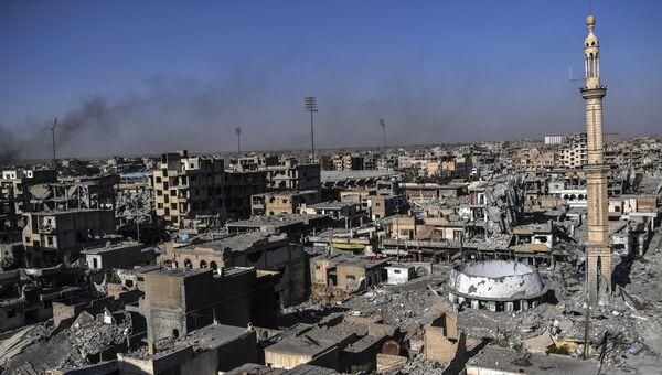 Панорама Ракки, Сирия. Октябрь 2017. Архивное фото