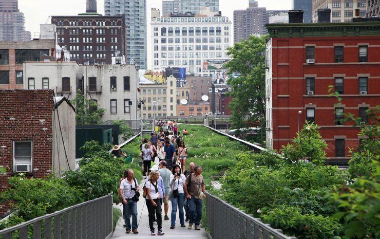 Парк High Line в Нью-Йорке (США)