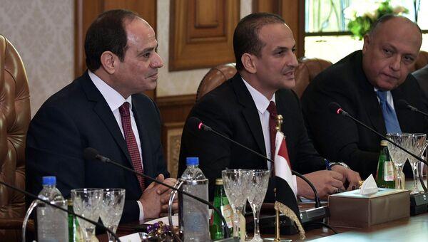 Президент Арабской Республики Египет Абдельфаттах Сиси во время российско-египетских переговоров в Каире. 11 декабря 2017