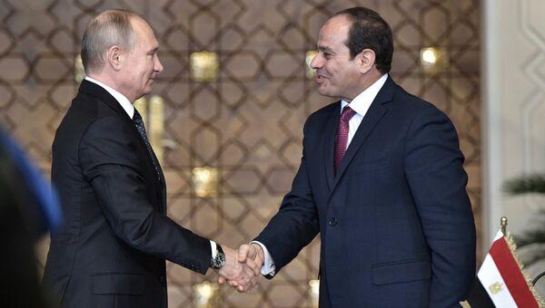 Владимир Путин и Абдельфаттах Сиси. Архивное фото