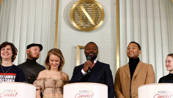 Перед концертом в честь обладателя Нобелевской премии мира 2017 года Осло Норвегия