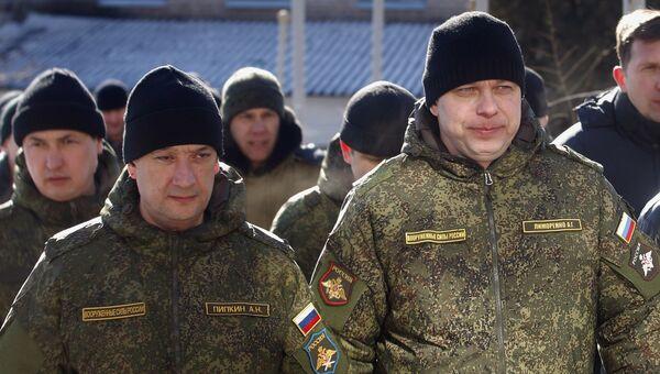 Российские военнослужащие СЦКК в Соледаре Донецкой области. Архивное фото