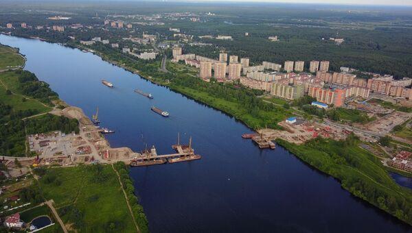 Дубна, Московская область, мост через Волгу