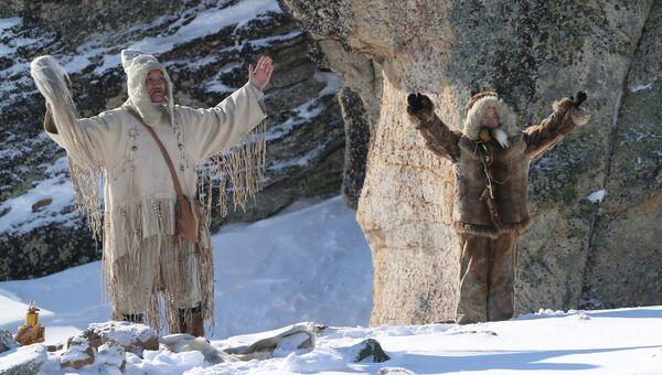 Обряд на священной горе Кисилях в Якутске. Архивное фото