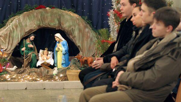 Католики празднуют Рождество Христово