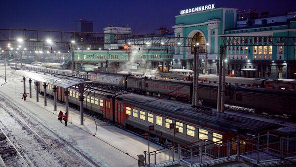 Пассажирские поезда на станции Новосибирск-Главный Западно-Сибирской железной дороги