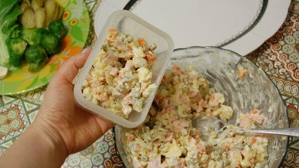 Производство каркаса дома (куличика) из оливье