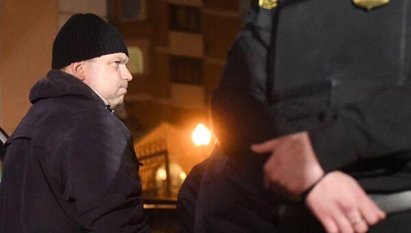 Экс-директор кондитерской фабрики Меньшевик Илья Аверьянов на избрании меры пресечения. 28 декабря 2017