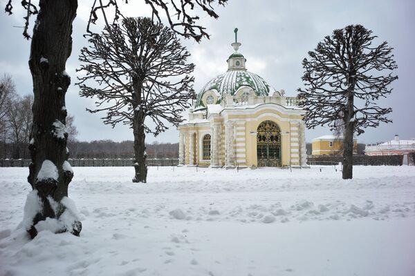 В московском парке Кусково зимой