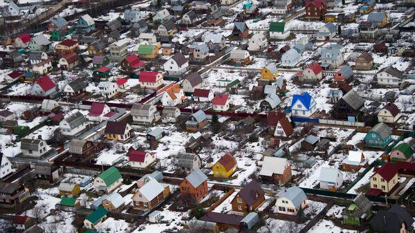 Вид на жилые дома в Подмосковье