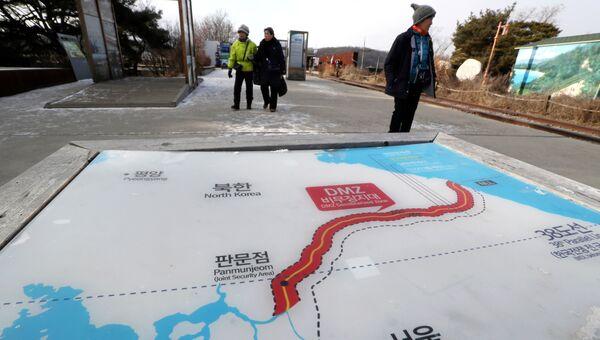 Карта Северной и Южной Кореи. Архив